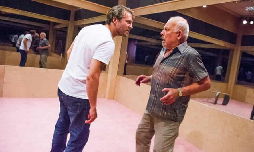 John Shrapnel, right, as Salter, with Lex Shrapnel in Caryl Churchill's A Number at the Young Vic, 2015.