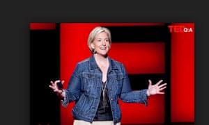 Brené Brown giving her TEDx talk on vulnerability in 2010.