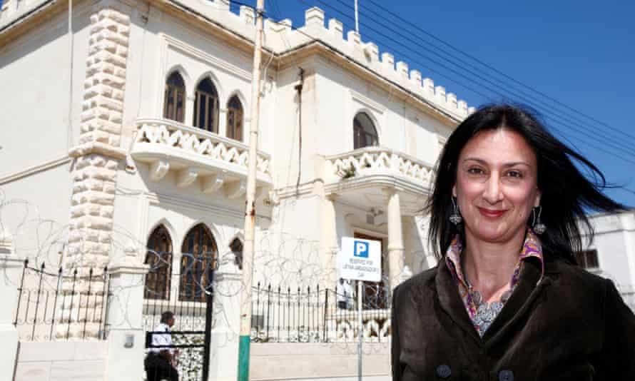 Daphne Caruana Galizia pictured in Valletta in 2011.