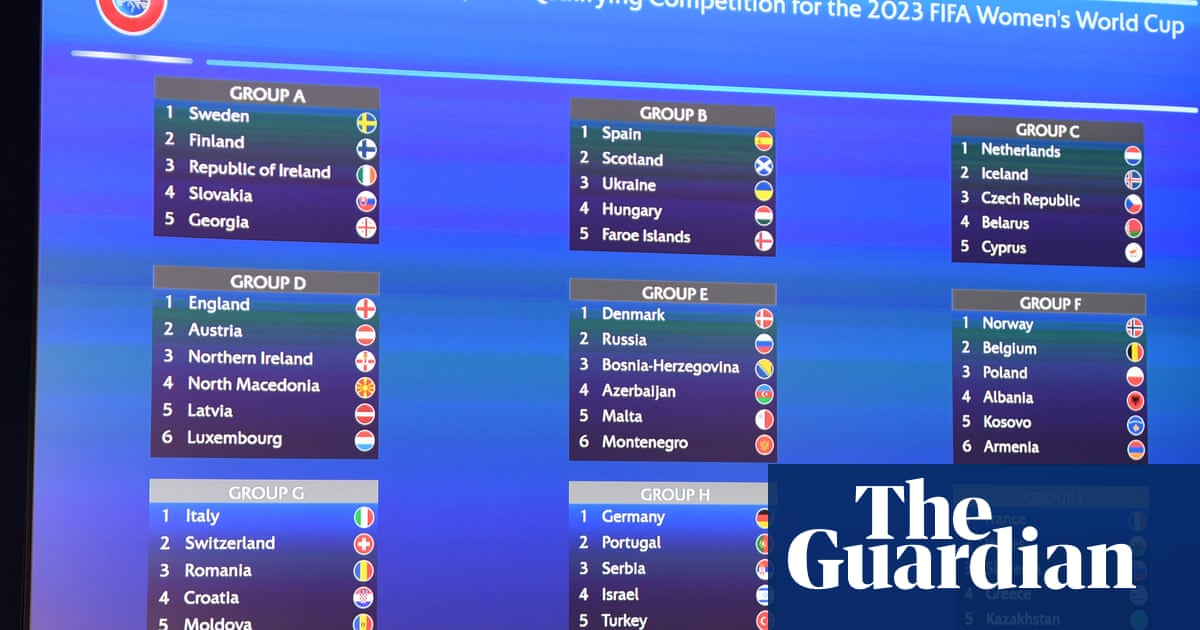 England to meet Northern Ireland in 2023 Women's World Cup qualifying