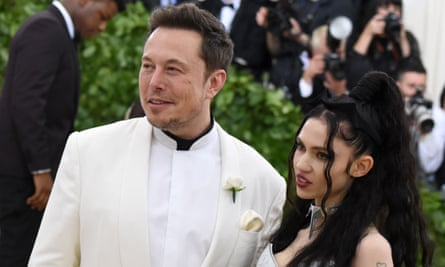 Elon Musk and Grimes at the Met Gala in 2018.