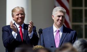 Neil Gorsuch is sworn in as an associate justice in April 2017.