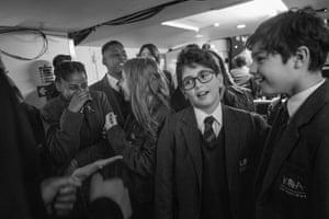 Kensington Aldridge academy pupils backstage after their performance