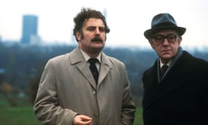 Terence Rigby and Alec Guinness in Tinker Tailor Soldier Spy.