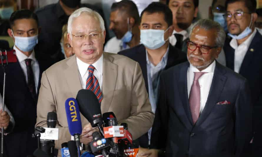 Former Malaysian prime minister Najib Razak said he wasn't aware of vast funds that had been transferred into his account.