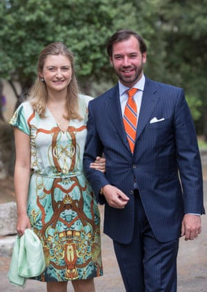 Prince Guillaume and Princess Stéphanie of Luxembourg.