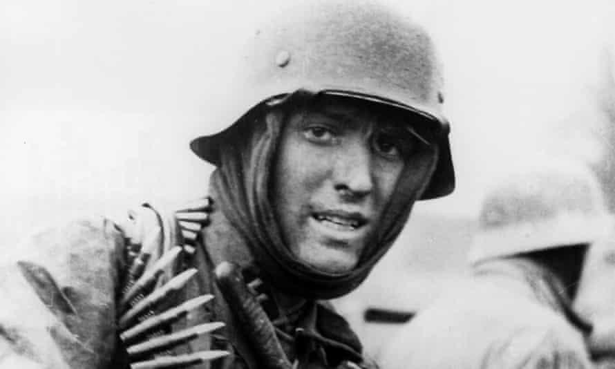 Second World War, Belgium, Battle of the Bulge, German advance Waffen-SS trooper, 17.12.1944