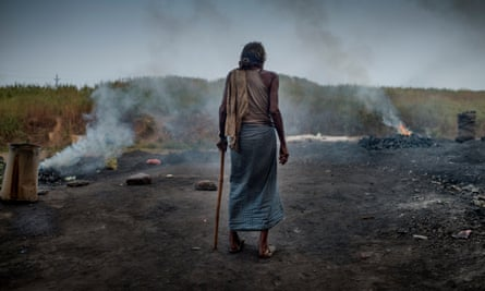Pollution from an open-cast coal mine in Jharia, Jharkand.