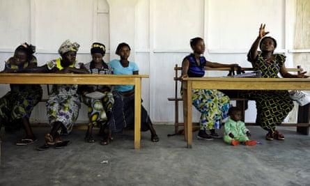 A class run by Women for Women International in the Democratic Republic of the Congo