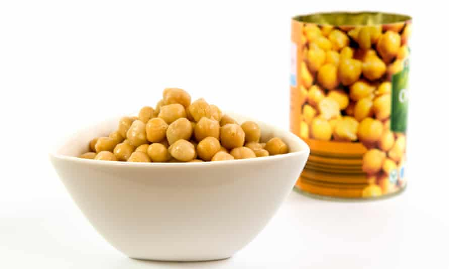 Tinned chickpeas should not be a cause for concern.