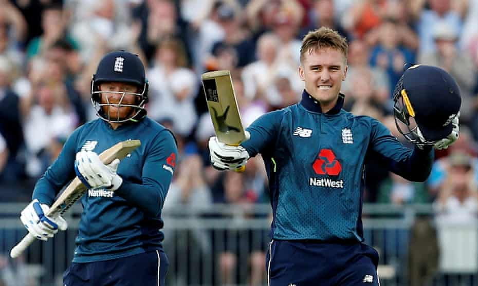 Jason Roy (right) celebrates another ODI century with Jonny Bairstow as the pair's prolific summer continued at Chester-le-Street on Thursday.