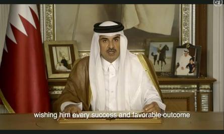 The emir of Qatar, Sheikh Tamim bin Hamad al-Thani.