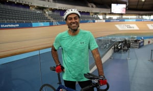 'I need to be in good shape … ' Amar Latif at the Olympic Velodrome.