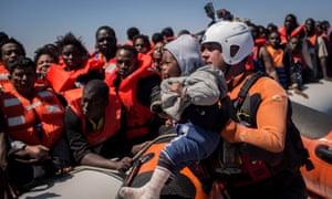 A rescue in the Mediterranean last year.
