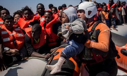 An NGO aid boat