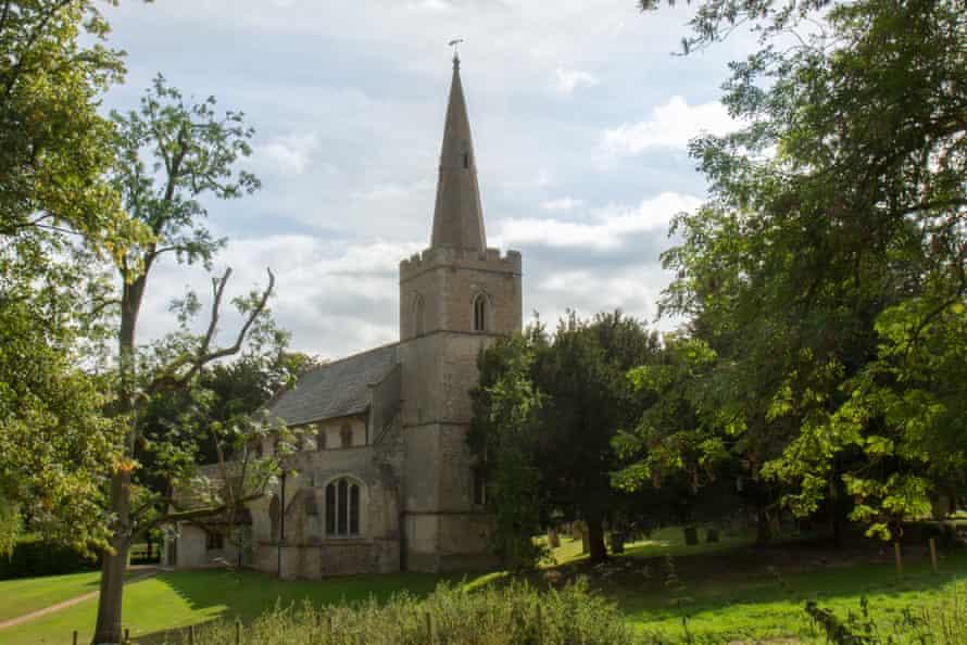 The medieval church at Madingley.