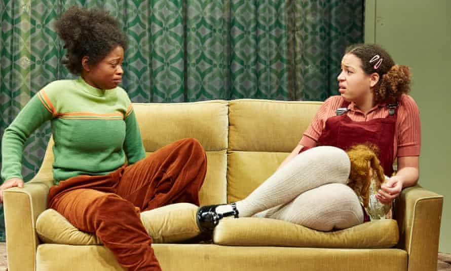 Kudzai Sitima as Princess and Emily Burnett as Lorna in Princess and the Hustler at Bristol Old Vic.