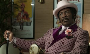 Eddie Murphy as Rudy Ray Moore in Dolemite Is My Name.