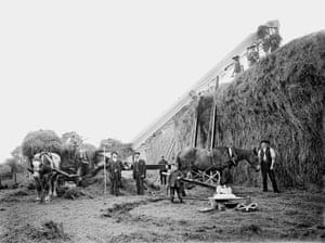 Mechanised farming in Hellidon, 1902