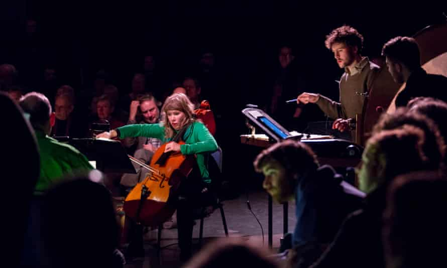 cellist Zoe Martlew performs On what weft are woven the waters by Rolf Hind at Huddersfield contemporary music festival 2017