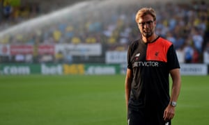 Jürgen Klopp prior to Liverpool's 5-0 victory over Burton Albion on Tuesday. The Merseysiders were excellent, something that was far from the case when they faced Burnley three days earlier