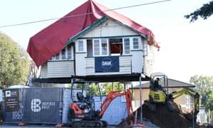 A house being renovated in Brisbane on Thursday