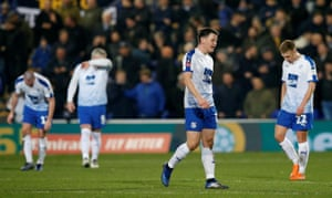A tough night for Liam Ridehalgh and Tranmere.