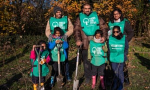 Volunteers for Trees for Cities, one of the charities the Guardian is raising money for as part of this year's charity appeal