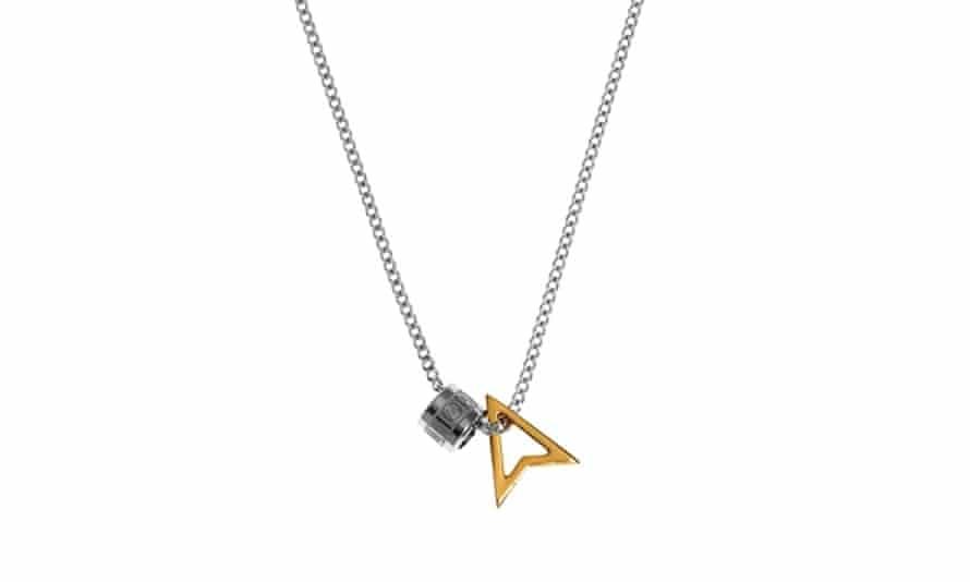 Silver pendant necklace, £125, northskull.com