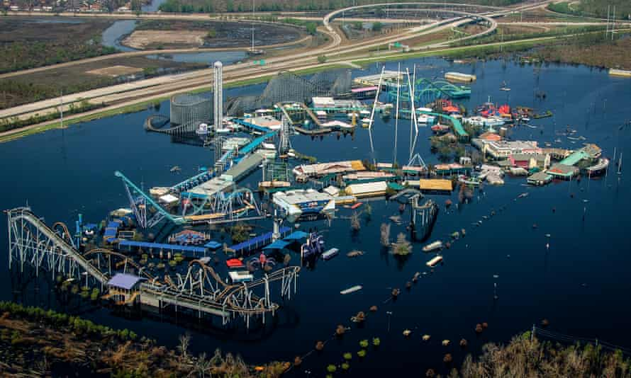 Underwater: TheSix Flags Amusement park. Bob in New Orleans, flooded by by Hurricane Katrina in 2005.