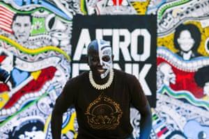 A man at Afropunk festival