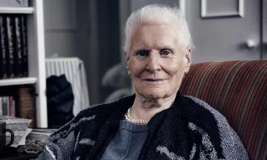 Diana Athill at her home in north London in 2015. She described herself as 'a beady-eyed watcher'.