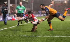 Louis Rees-Zammit is a free-scoring wing for Gloucester and the 18-year-old has been selected for Wales.