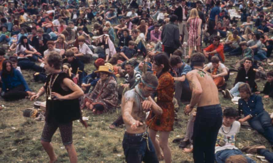 Festival of the flower children at Woburn Abbey, Bedfordshire during the 1967 'Summer of Love'.