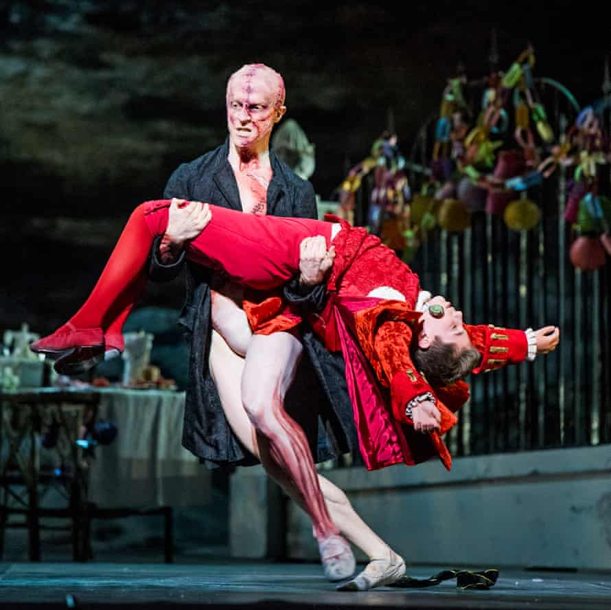 Masterly performance … McRae as the Creature with Guillem Cabrera Espinach as William Frankenstein.