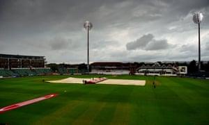Rain has stopped play.