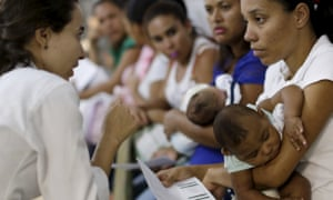 Mothers with babies who have microcephaly await medical care at a hospital in Recife, Brazil.