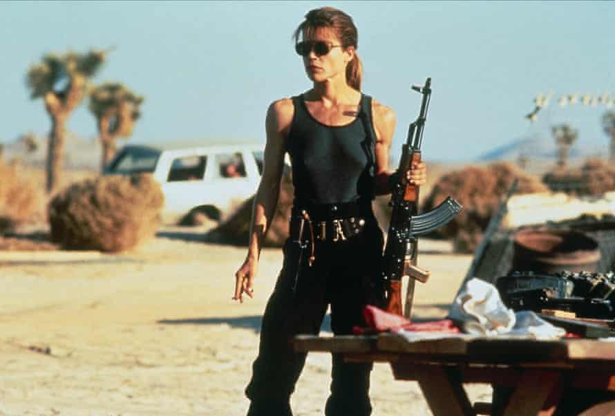 Linda Hamilton in Terminator 2.