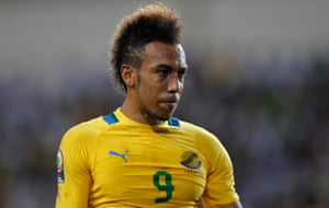 Pierre-Emerick Aubameyang in action for Gabon in 2012.