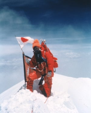 Junko Tabei at the summit of Everest, 16 May 1975.