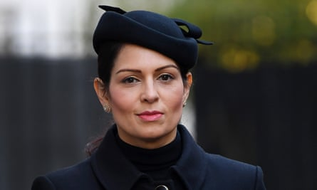 Priti Patel on her way to the Cenotaph ahead of the Remembrance Sunday service