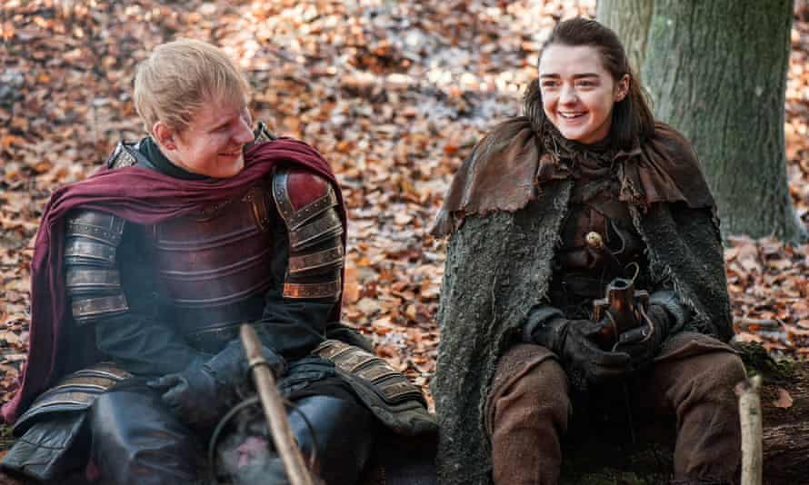 Ed Sheeran barely adopting a semblance of a character on Game of Thrones.