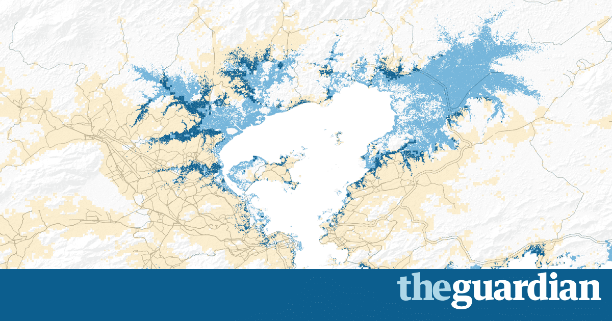 The Threedegree World Cities That Will Be Drowned By Global - Us map after global warming