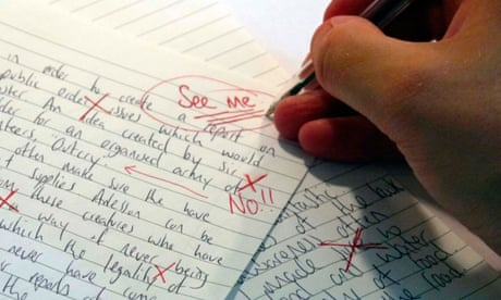 Image result for teacher and student corrected paper""