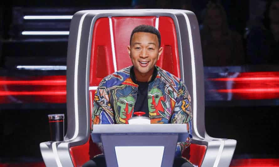 John Legend as a judge on America's The Voice.