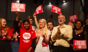 Jeremy Corbyn campaigning before the Labour leadership election in September 2015.