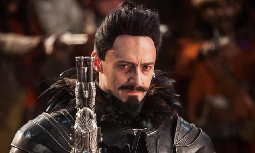 Jackman as Blackbeard in Pan.