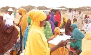 Women lead emergency food distribution in Qoyta region, Somaliland.