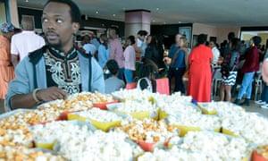 People queue to see Rafiki at the Prestige cinema, Nairobi