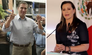 Rafael Moreno and Martha Erika Alonso, the new governor of Puebla, who have died in a helicopter crash